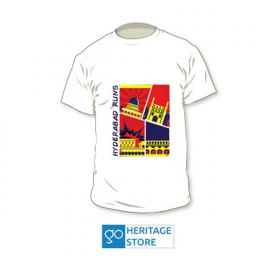 Hyderabad comic white run T-shirt