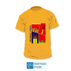 Mumbai comic orange run T-shirt