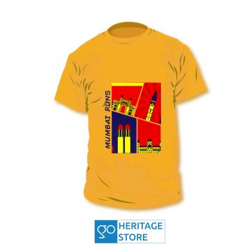 Mumbai comic orange run T-shirt