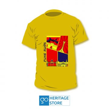 Pune comic yellow run T-shirt