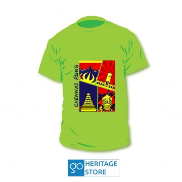 Chennai comic green run T-shirt