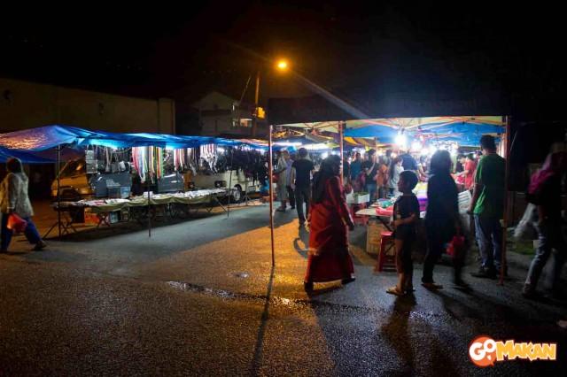 night view in pasar malam padang jawa