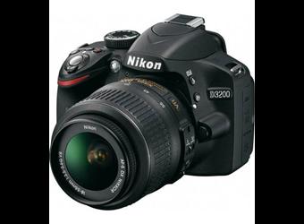 NIKON D3200 BLACK KIT (18-55mm LENS) 24 MEGAPIXELS DSLR CAMERA