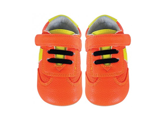 JACK & LILY BABY SHOES - MY MOCS STAR TRAINER FLUORESCENT ORANGE