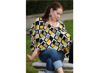 JULI BLACK/YELLOW GEO - PIROSE NURSING COVER