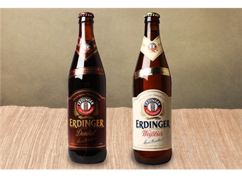 12 Bottles of Erdinger Weissbrau Weissbier or Dunkel Bavarian Beer