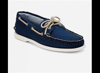 Sperry Men's Authentic Original Canvas Boat Shoe (Navy)