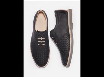 Thorocraft Ross Black Full Grain Leather Shoe (Black)