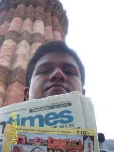 Vaibhav at Qutb minar, Delhi