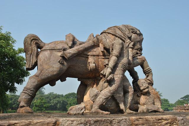Sun Temple Konark Horse in Southern side
