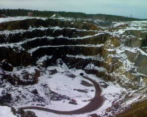 Mining Area of the Great Copper Mountain in Falun