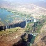 Victoria falls in dry season