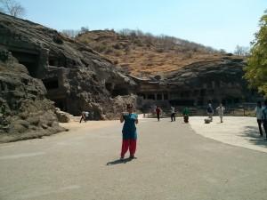 At Ajanta and Ellora Caves
