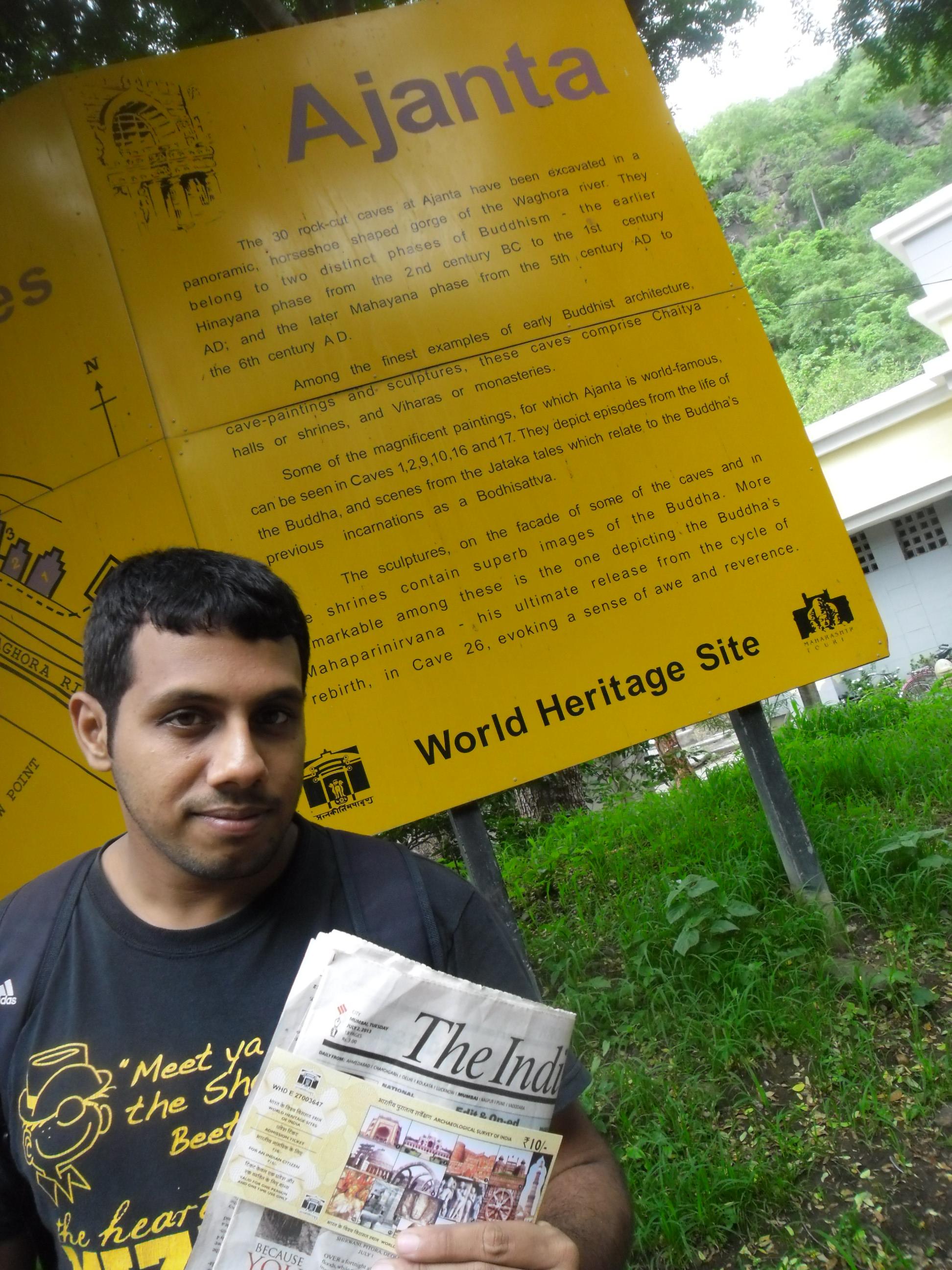 Arun Vasireddy Ajanta caves