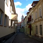 A street in Vilnius Lithuania
