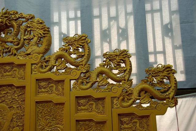 Dragon throne Summer palace Beijing China