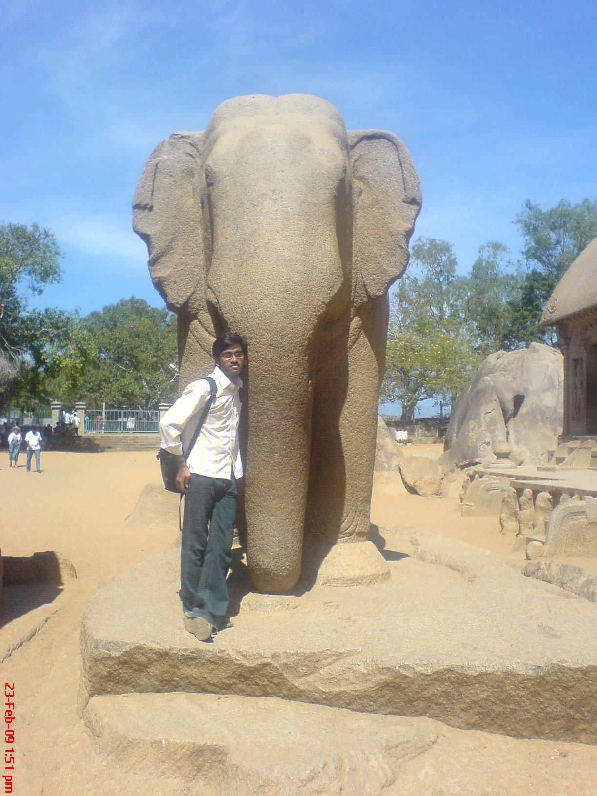 balasekhar at Mahabalipuram