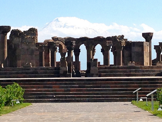 Mount Ararat and Zvartnots Cathedral