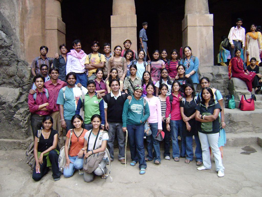 Elephanta Caves near Mumbai with my college friends. It was part of History class.