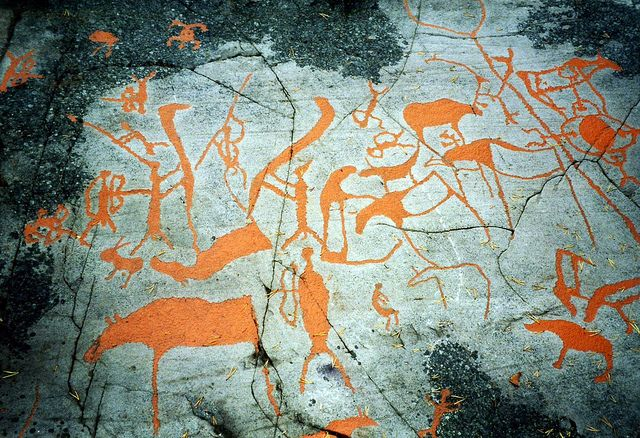 Rock art in Arctic Alta sophie