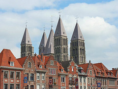A Gothic Cathedral with 5 Towers