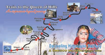 Route map of DHR