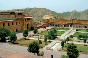 One of the Courtyards inside Amber Fort