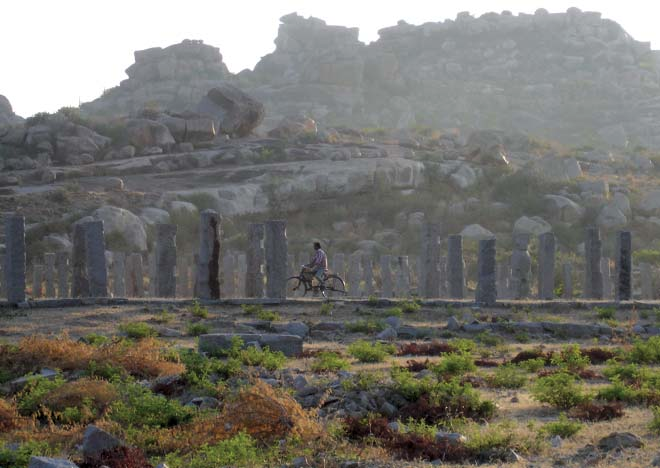 Cycling near the ruins