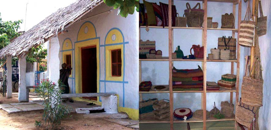 Handicraft shop settled in a traditional house in Anegundi