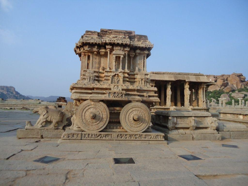 Chariot at Vithal temple, Hampi