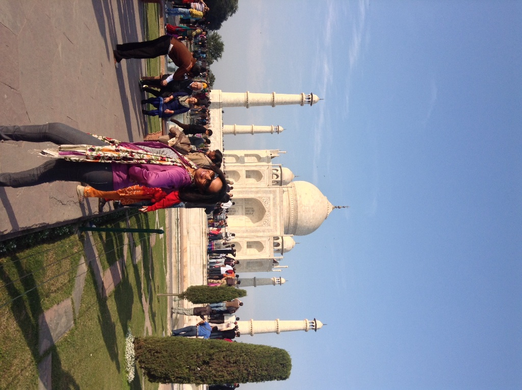 Enjoying the Taj Mahal view