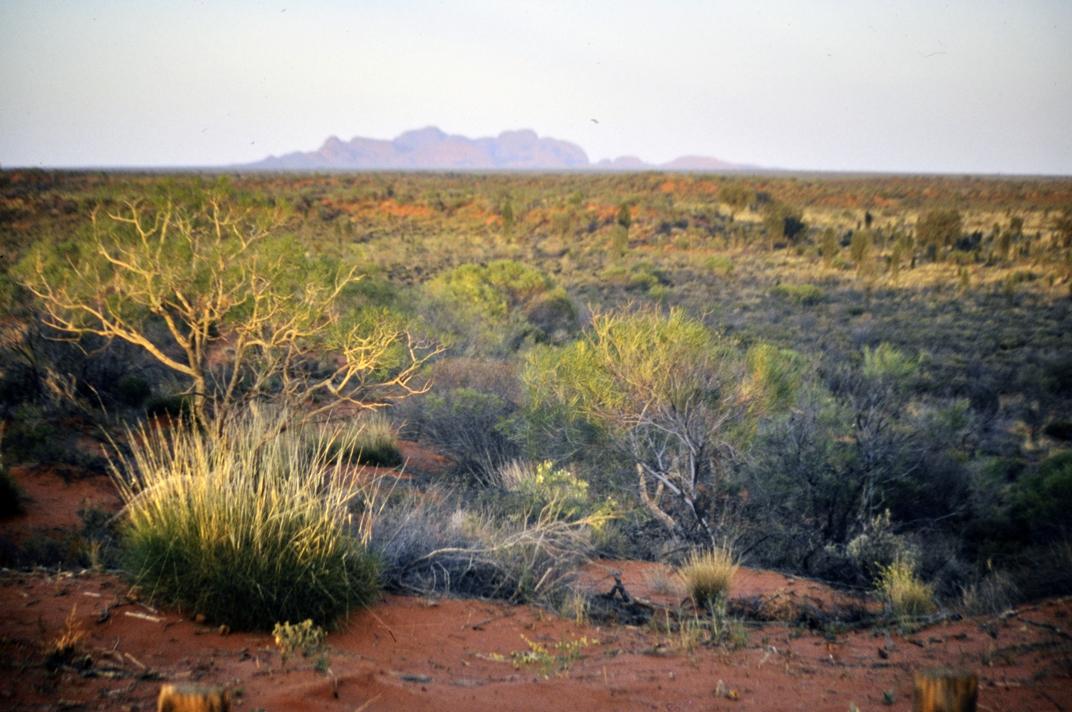 kata tjuta in a haze Uluru-Kata Tjuta National Park Australia Cathrin Eszbach
