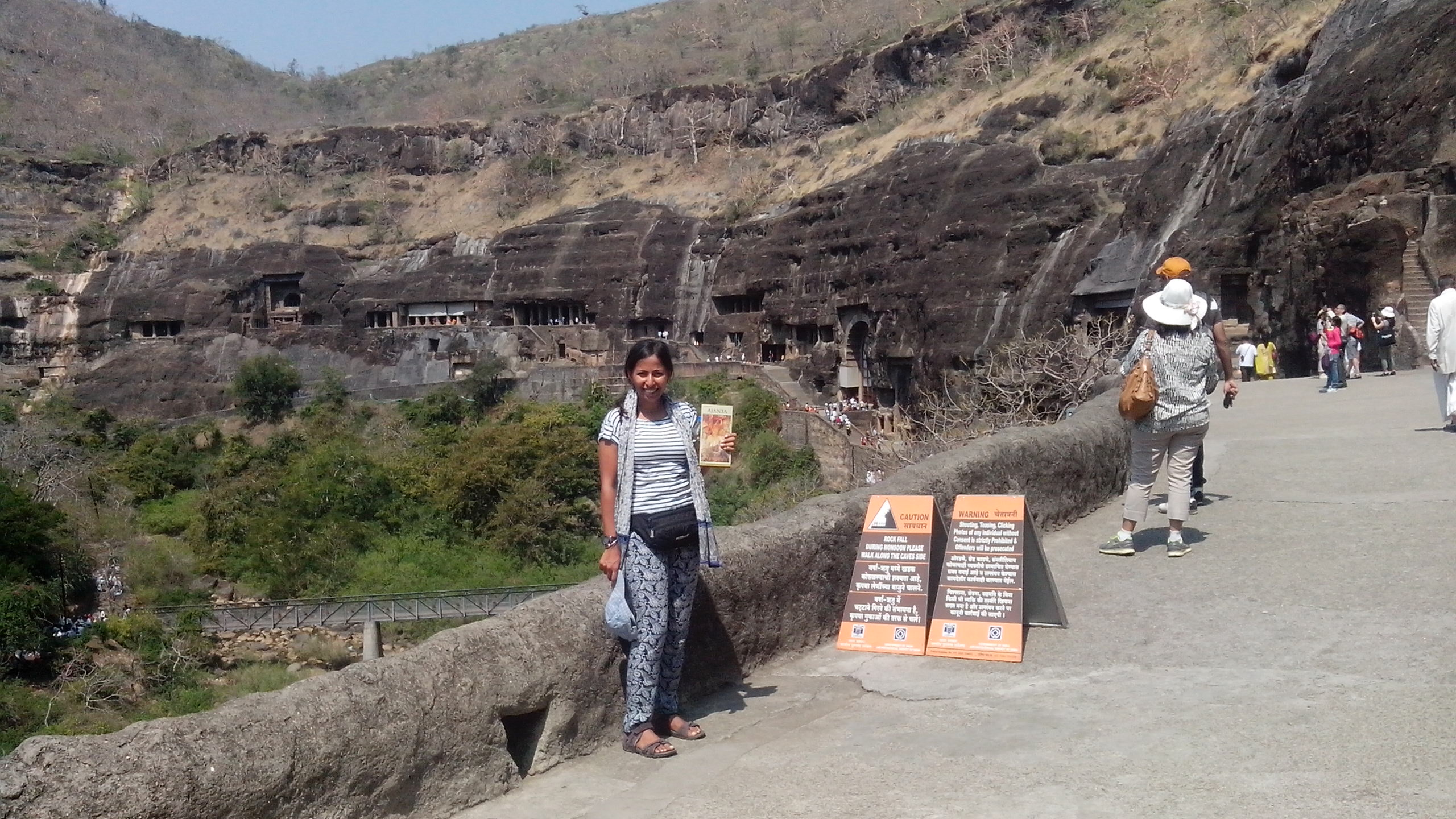 Ajanta Caves- Cave#26 and outside view