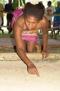 Vanuatu sand drawings