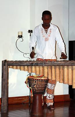 Marimba music and traditional chants
