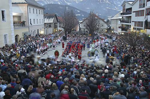Schemenlaufen, the carnival of Imst, Austria