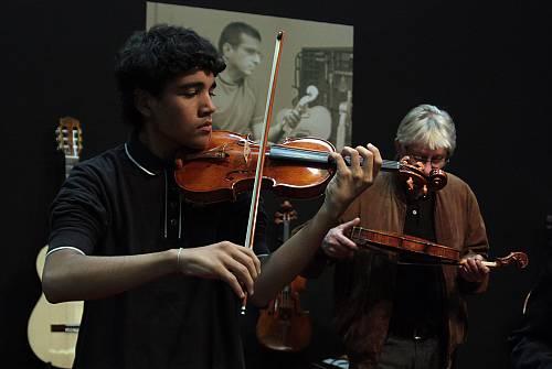 Traditional violin craftsmanship in Cremona