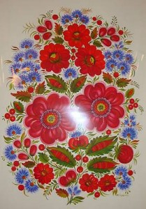 Petrykivka decorative painting