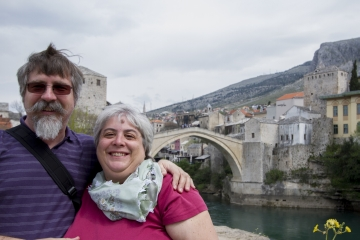 Old Bridge Area of the Old City of Mostar - Bosnia and Herzegovina Corinne vail