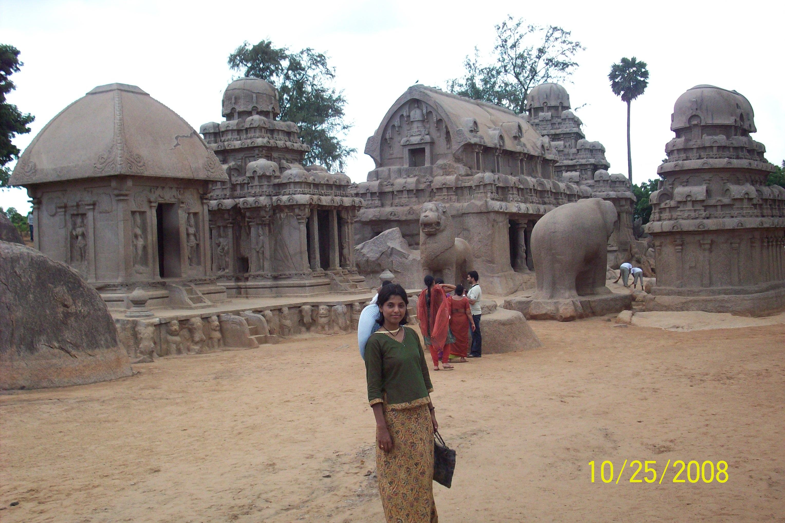 Mahabalipuram Group of Monuments at Mahabalipuram - India Girija M R