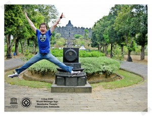 Star Jump at Borobudur Temple