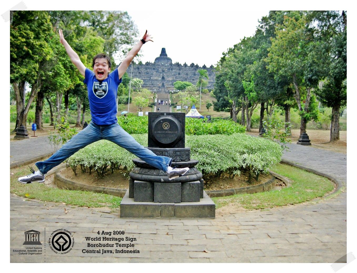 Star Jump at Borobudur Temple Borobudur Temple Compounds - Indonesia Thomas shaw