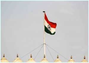 National Flag at red fort