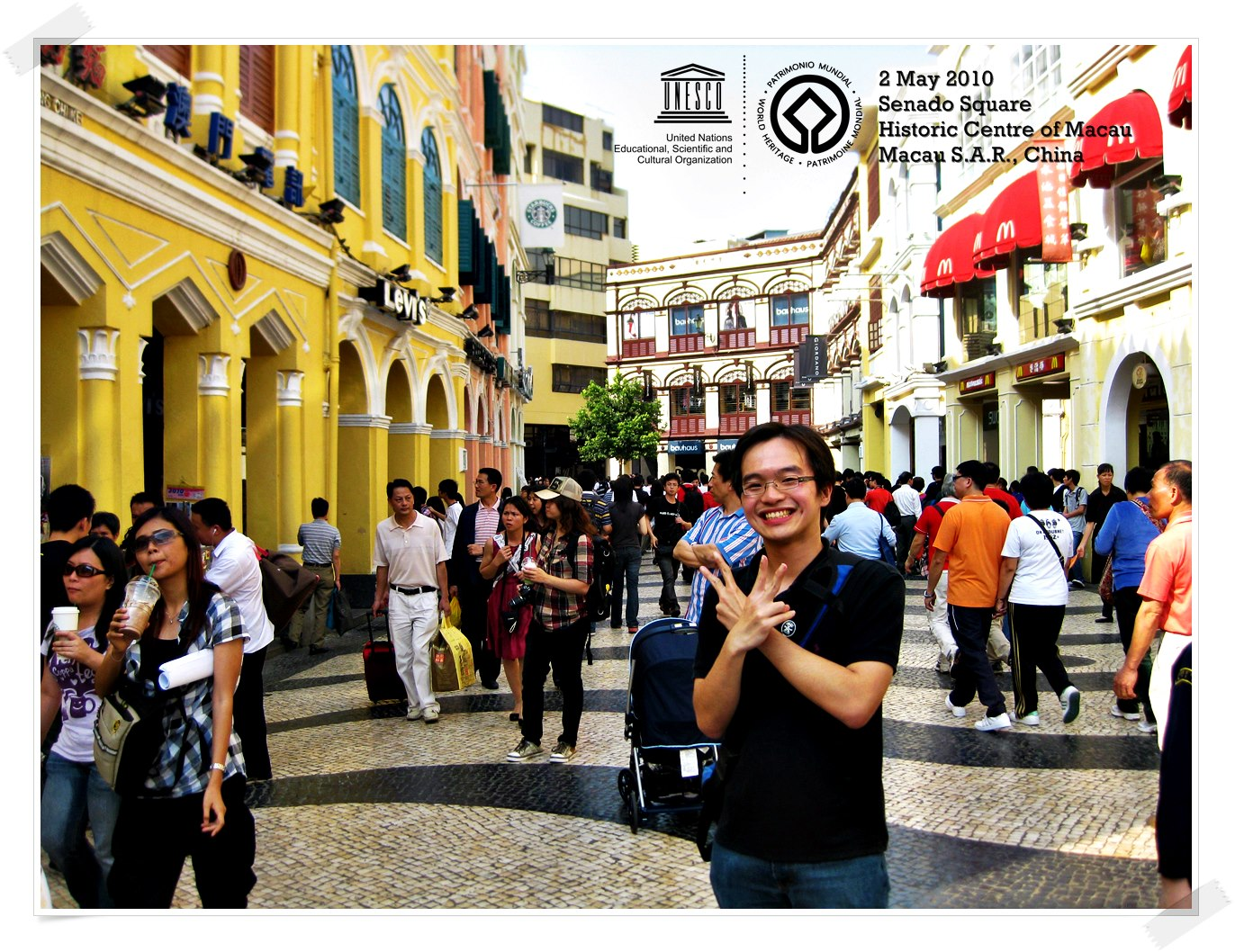 Leal Senado Square, the Heart of Macao Historic Centre of Macao - China Thomas shaw