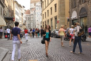 In the street of Florence