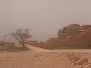 The view of the Dead Sea from Masada