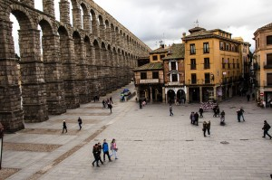 Segovia Aqueduct and plaza