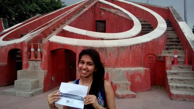 Prakriti Sethi at Jantar Mantar for goUNESCo challenge
