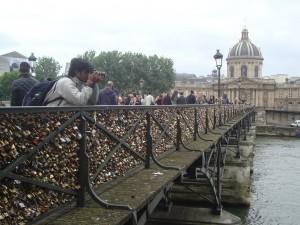 The love Lock Bridge!