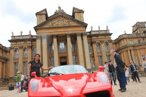 In front of Blenheim Palace